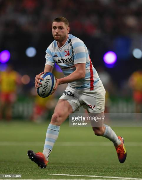 Finn Russell of Racing 92 throws a no look pass during the Heineken Champions Cup Quarter Final match between Racing 92 and Toulouse at La Defense...