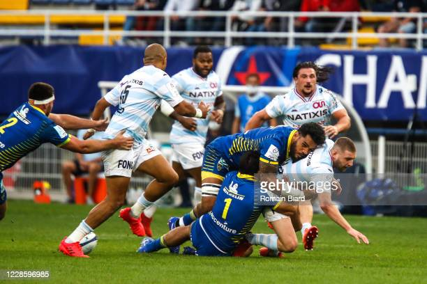 Finn RUSSELL of Racing92 during the Quarter-Final Champions Cup match between Clermont and Racing92 at Stade Marcel Michelin on September 19, 2020 in...