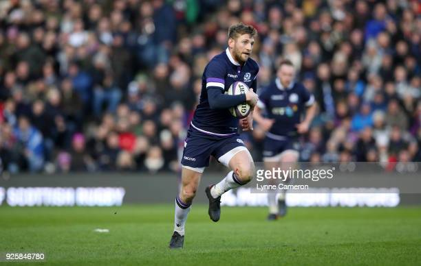 Finn Russell of Scotland during the NatWest Six Nations Championship between Scotland and England at Murrayfield on February 24 2018 in Edinburgh...