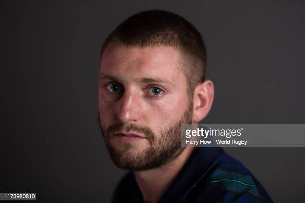 Finn Russell of Scotland poses for a portrait during the Scotland Rugby World Cup 2019 squad photo call on on September 11, 2019 in Nagasaki, Japan.