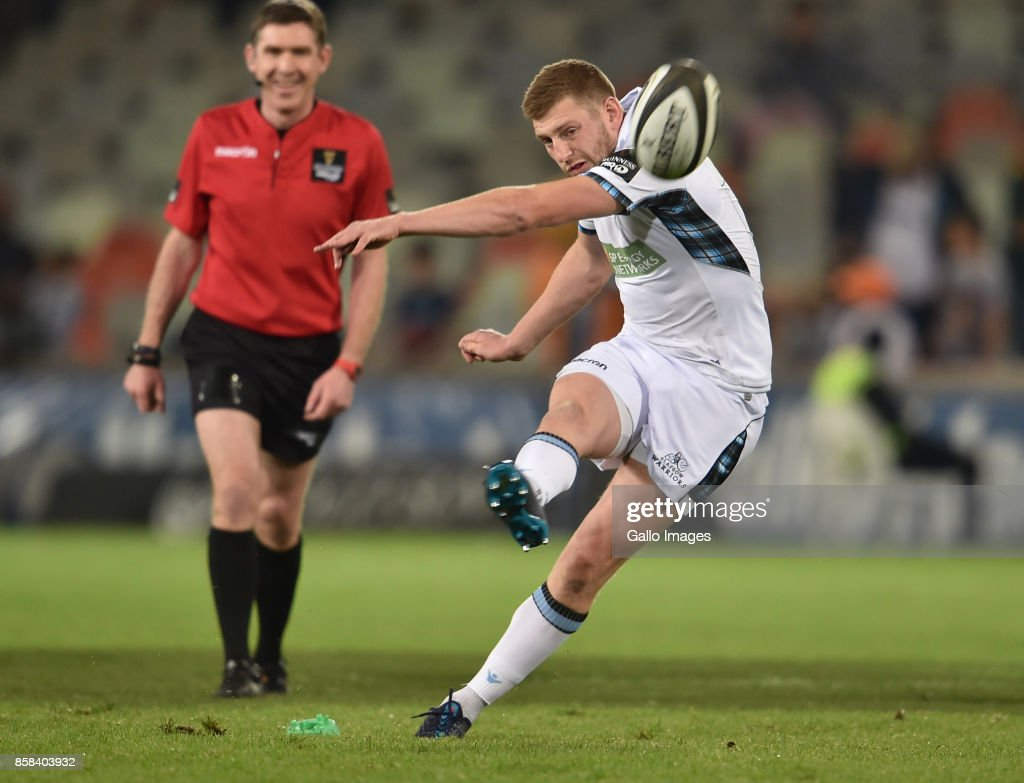 Finn Russell of the Glasgow Warriors during the Guinness Pro14 match between Toyota Cheetahs and Glasgow Warriors at Toyota Stadium on October 06, 2017 in Bloemfontein, South Africa.
