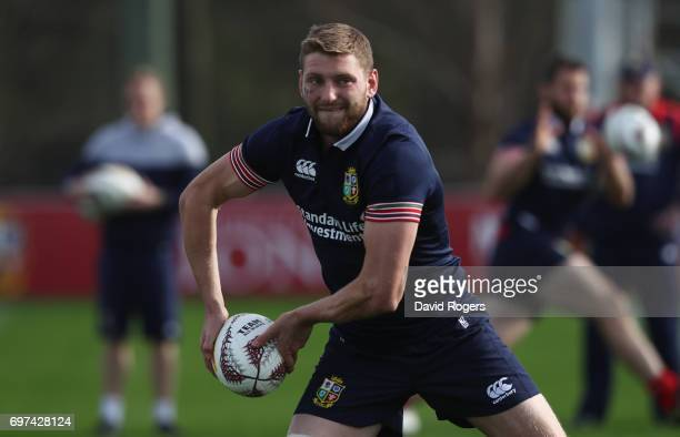Finn Russell passes the ball during the British Irish Lions training session at Beetham Park on June 19 2017 in Hamilton New Zealand