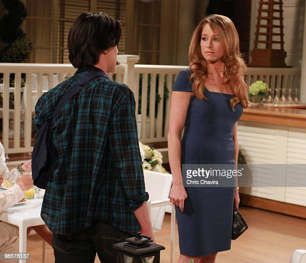 CHILDREN Finn Wittrock and Jamie Luner in a scene that airs the week of April 26 2010 on Walt Disney Television via Getty Images Daytime's All My...