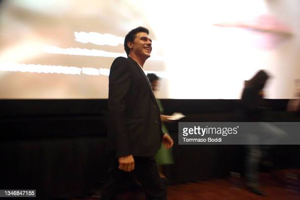 """Finn Wittrock attends the """"A Mouthful Of Air"""" Q&A with Amanda Seyfried, cast and filmmakers at AMC Century City 15 on October 15, 2021 in Century..."""