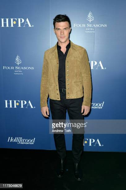 Finn Wittrock attends The Hollywood Foreign Press Association and The Hollywood Reporter party at the 2019 Toronto International Film Festival at...