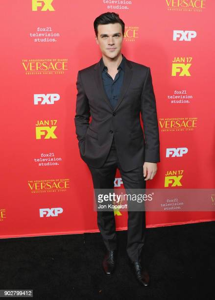 Finn Wittrock attends the Los Angeles Premiere 'The Assassination Of Gianni Versace American Crime Story' at ArcLight Hollywood on January 8 2018 in...