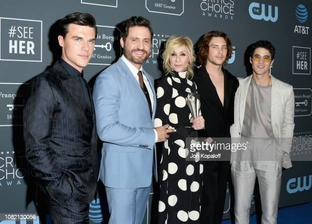 Finn Wittrock Edgar Ramirez Judith Light Cody Fern and Darren Criss winners of Best Limited Series for 'The Assassination of Gianni Versace American...