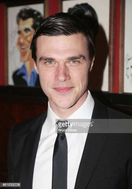Finn Wittrock poses at the opening night after party for 'The Glass Menagerie' on Broadway at Sardi's on March 9 2017 in New York City