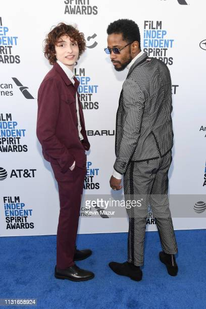 Finn Wolfhard and Lakeith Stanfield attend the 2019 Film Independent Spirit Awards on February 23 2019 in Santa Monica California