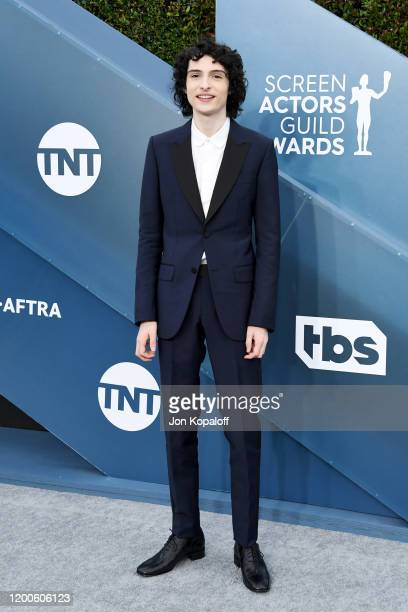 Finn Wolfhard attends the 26th Annual Screen Actors Guild Awards at The Shrine Auditorium on January 19 2020 in Los Angeles California