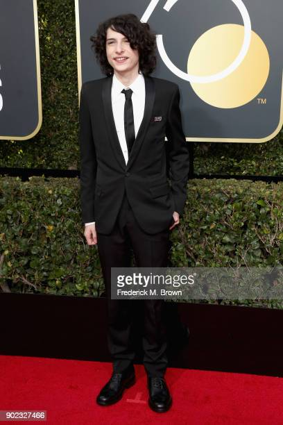 Finn Wolfhard attends The 75th Annual Golden Globe Awards at The Beverly Hilton Hotel on January 7 2018 in Beverly Hills California