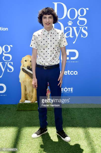 Finn Wolfhard attends the premiere of LD Entertainment's Dog Days at Westfield Century City on August 5 2018 in Century City California