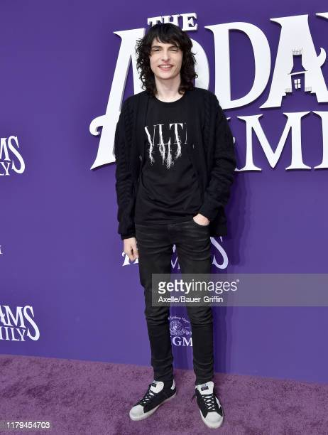 """Finn Wolfhard attends the Premiere of MGM's """"The Addams Family"""" at Westfield Century City AMC on October 06, 2019 in Los Angeles, California."""