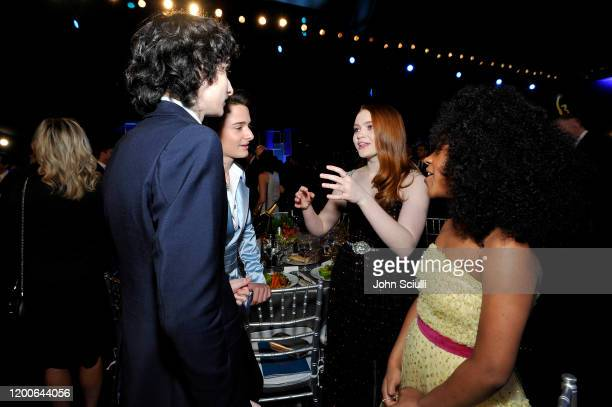Finn Wolfhard Noah Schnapp Sadie Sink and Priah Ferguson attend the 26th Annual Screen Actors Guild Awards at The Shrine Auditorium on January 19...