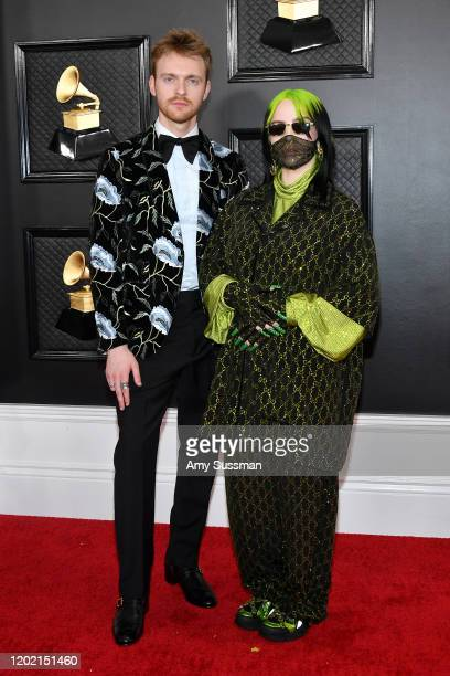 Finneas and Billie Eilish attend the 62nd Annual GRAMMY Awards at Staples Center on January 26, 2020 in Los Angeles, California.