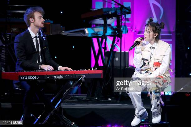 Finneas and Billie Eilish perform onstage during the ASCAP 2019 Pop Music Awards at The Beverly Hilton Hotel on May 16 2019 in Beverly Hills...