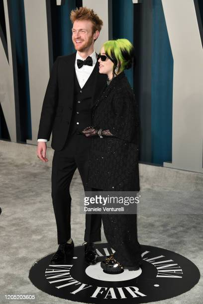 Finneas O'Connell and Billie Eilish attend the 2020 Vanity Fair Oscar party hosted by Radhika Jones at Wallis Annenberg Center for the Performing...