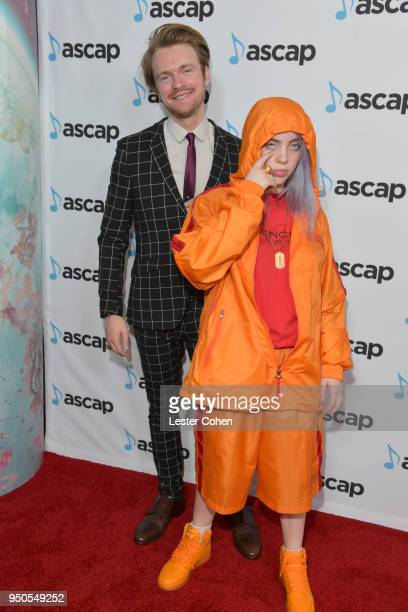Finneas O'Connell and Billie Eilish attend the 35th Annual ASCAP Pop Music Awards at The Beverly Hilton Hotel on April 23 2018 in Beverly Hills...