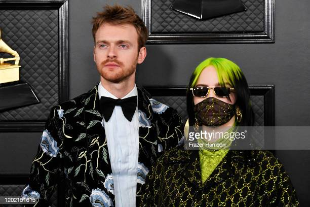 Finneas O'Connell and Billie Eilish attend the 62nd Annual GRAMMY Awards at STAPLES Center on January 26 2020 in Los Angeles California