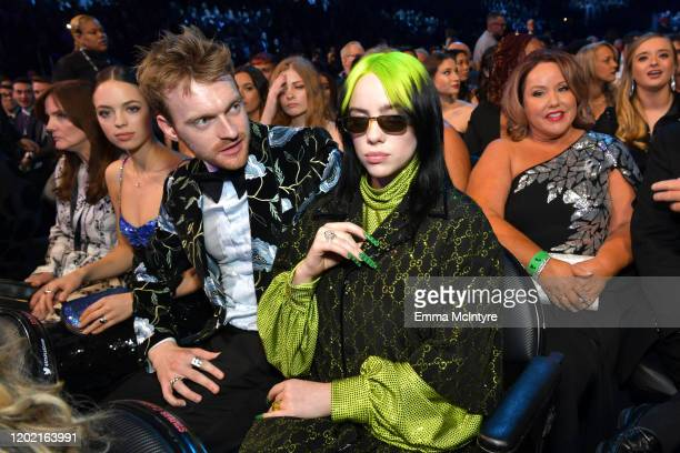 Finneas O'Connell and Billie Eilish attend the 62nd Annual GRAMMY Awards at STAPLES Center on January 26, 2020 in Los Angeles, California.