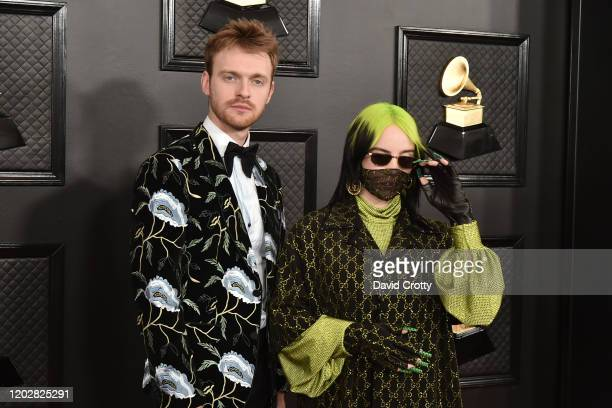Finneas O'Connell and Billie Eilish attend the 62nd Annual Grammy Awards at Staples Center on January 26 2020 in Los Angeles CA