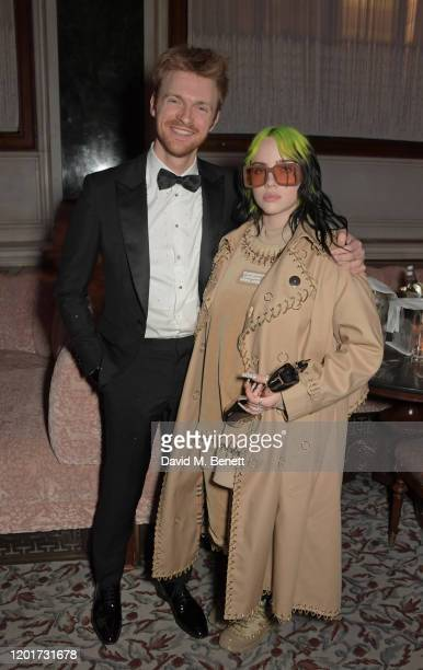 Finneas O'Connell and Billie Eilish attend the Universal Music BRIT Awards after-party 2020 hosted by Soho House & PATRON at The Ned on February 18,...