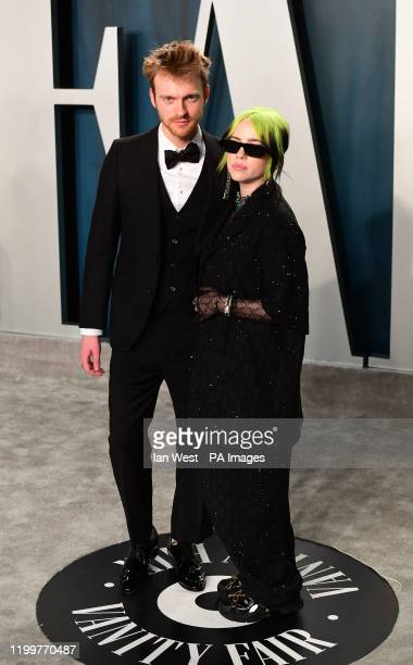Finneas O'Connell and Billie Eilish attending the Vanity Fair Oscar Party held at the Wallis Annenberg Center for the Performing Arts in Beverly...