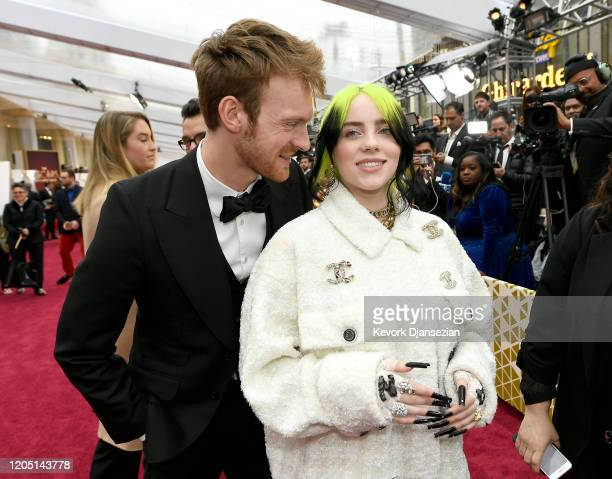 Finneas O'Connell and Billie Eilish attends the 92nd Annual Academy Awards at Hollywood and Highland on February 09 2020 in Hollywood California