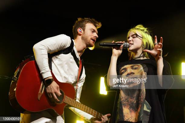 Finneas O'Connell and Billie Eilish perform onstage at the 2020 iHeartRadio ALTer EGO at The Forum on January 18, 2020 in Inglewood, California.