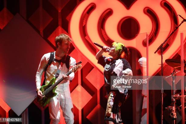 Finneas O'Connell and Billie Eilish perform onstage during 102.7 KIIS FM's Jingle Ball 2019 Presented by Capital One at the Forum on December 6, 2019...