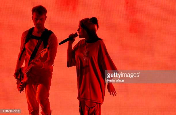 Finneas O'Connell and Billie Eilish perform onstage during the 7th Annual We Can Survive presented by ATT a RADIOCOM event at The Hollywood Bowl on...