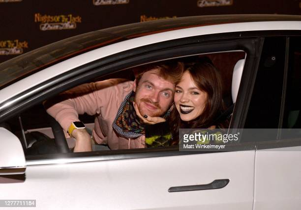 Finneas O'Connell and Claudia Sulewski attend Nights of the Jack Friends & Family Night 2020 at King Gillette Ranch on September 30, 2020 in...