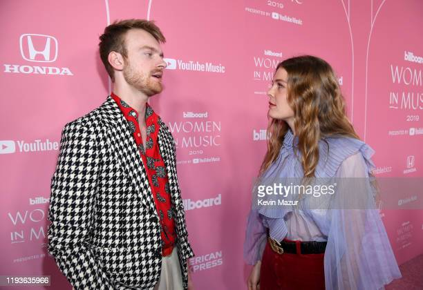 Finneas O'Connell and Maggie Rogers attend Billboard Women In Music 2019 presented by YouTube Music on December 12 2019 in Los Angeles California