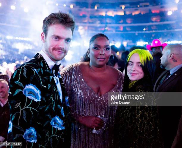 Finneas O'Connell, Lizzo, and Billie Eilish attend the 62nd Annual GRAMMY Awards on January 26, 2020 in Los Angeles, California.