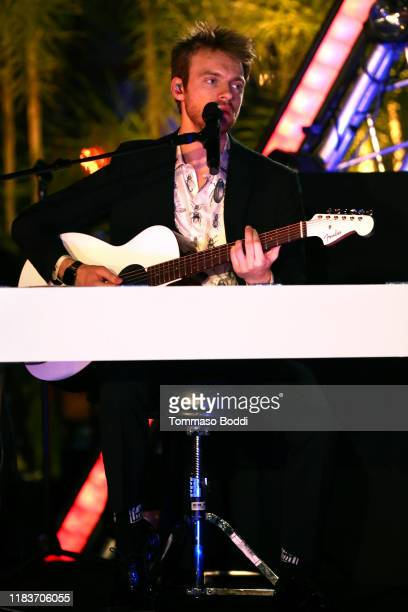 Finneas O'Connell performs onstage during the 7th Annual UNICEF Masquerade Ball 2019 at Kimpton La Peer Hotel on October 26 2019 in West Hollywood...