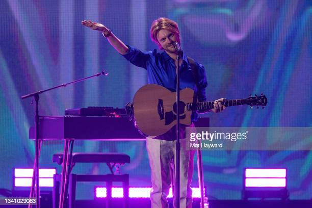 Finneas performs on stage during the iHeartRadio Music Festival at T-Mobile Arena on September 17, 2021 in Las Vegas, Nevada.