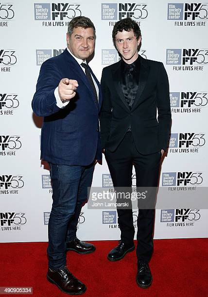 Finnegan Oldfield and Director Thomas Bidegain attend 'Les Cowboys' during 53rd New York Film Festival at Alice Tully Hall Lincoln Center on October...