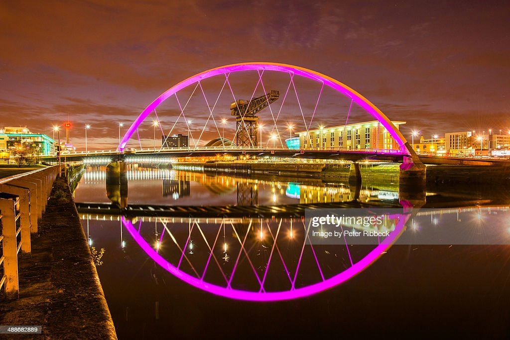 Finnieston Bridge, River Clyde : Stock Photo