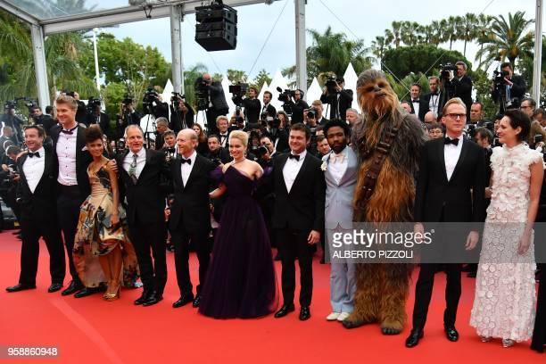Finnish actor Joonas Suotamo, British actress Thandie Newton, US actor Woody Harrelson, US director Ron Howard, British actress Emilia Clarke, US...