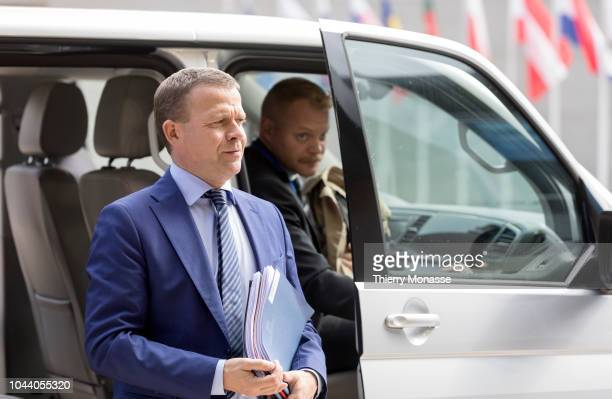 Finnish Finance Minister Petteri Orpo arrives for a meeting of Eurogroup ministers at the European Council building on October 1 2018 in Luxembourg