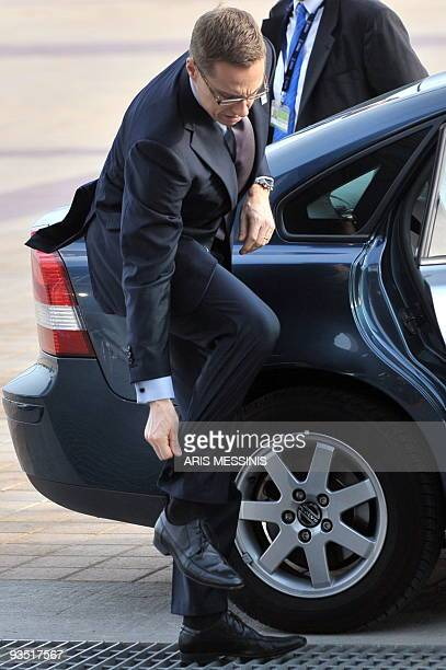 Finnish Foreign Minister Alexander Stubb arrives for the start of the 17th Organization for Security and Cooperation in Europe Ministerial Council...