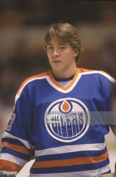 Finnish hockey player Jari Kurri of the Edmonton Oilers 1980s