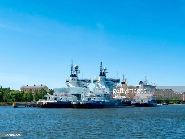 ヘルシンキ港にフィンランドの砕氷船します。