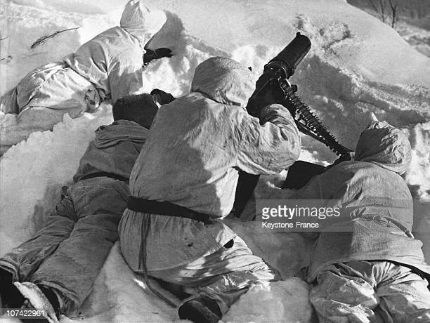 Finnish Machine Gunners Unit In Soviet Finnish War On March 1940