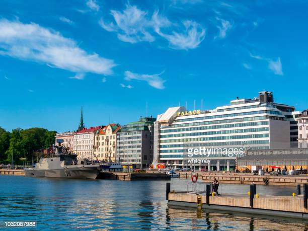 Finse Marine Hamina-klasse raket boot in Helsinki