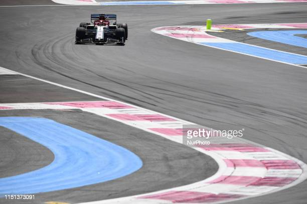Finnish one time World Champion Kimi Raikkonen of Italian team Alfa Romeo Racing driving his singleseater during the 60th edition of the French GP...