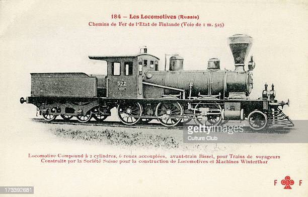Finnish railway compound locomotive c 1900 Constructed by the Société Swiss for Winterthur Locomotives and Machines Two cylinder six wheel locomotive...