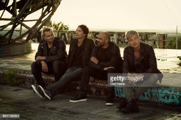 Finnish rock band Sunrise Avenue are photographed on April 8 2013 in Berlin Germany