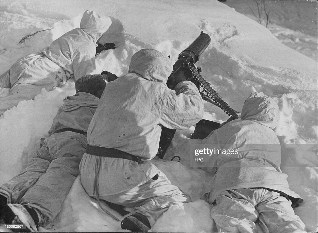 Finnish ski troops training during World War Two, Northern