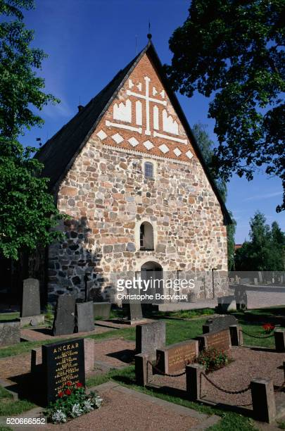 finnish stone church in espoo - espoo stock pictures, royalty-free photos & images